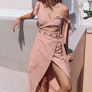 BLUSH TWIST MAXI DRESS - LUXE SABO
